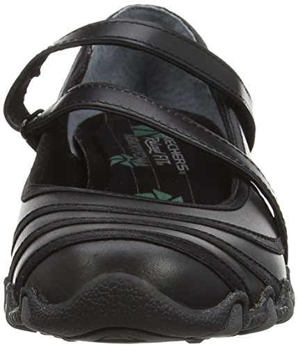 Jane Satin Noir Mary Skechers Shine Noir Femme Bikers nROFRIf