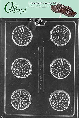 CybrTrayd P031 Celtic Cookie Chocolate Candy Mold with Exclusive Copyrighted Molding Instructions, - Candy Celtic