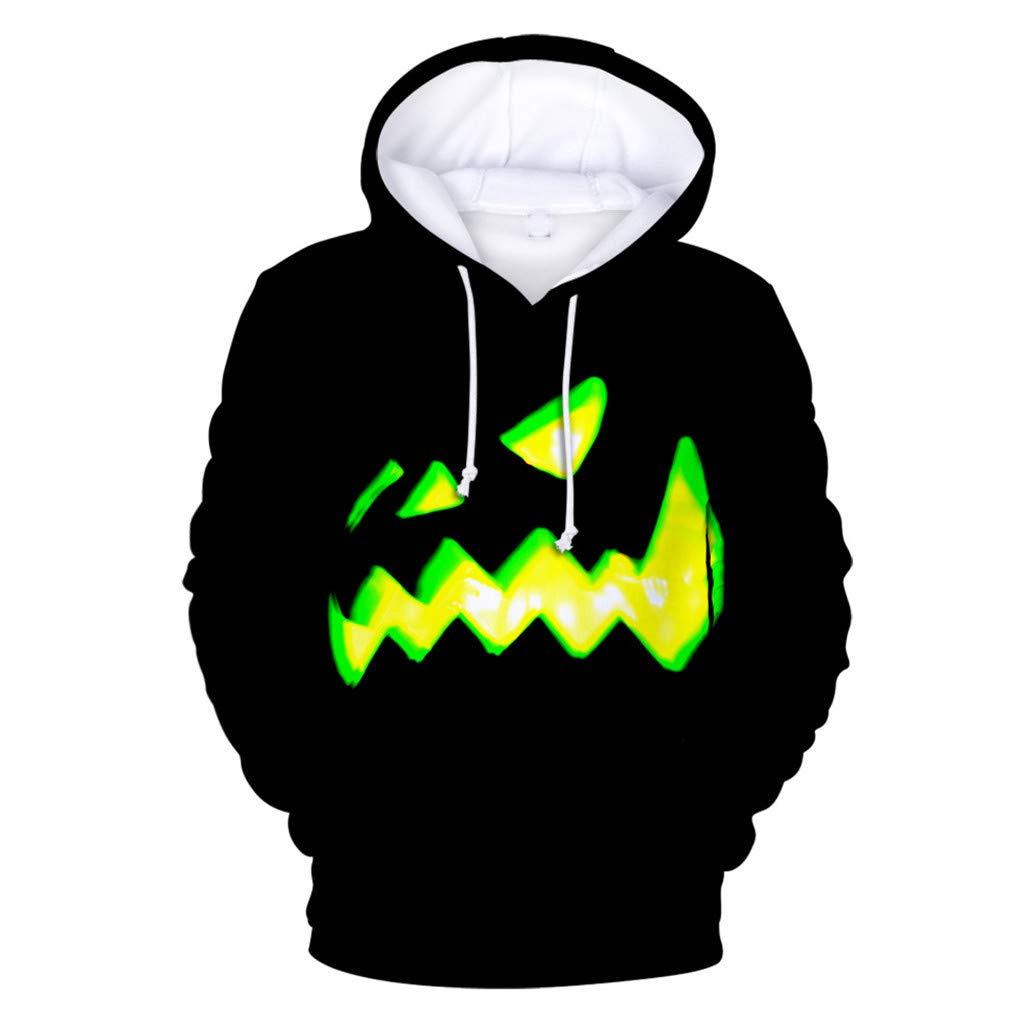 Mens Hoodies,AcisuHu Long Sleeve Halloween Funny Graphic Printed Casual Pullovers Sweatshirts