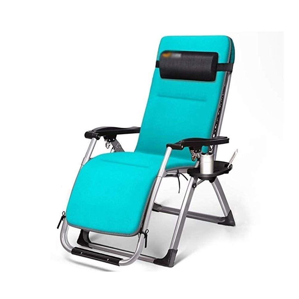 YYTLTY Lounge Chair,Multifunction Deck Chair,Foldable Garden Lounge Chair, Sun Lounger Portable Office Siesta Nap Bed Outdoor Beach Chair, Green by YYTLTY