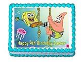 Spongebob and Patrick Edible Cake Image Frosting Sheet Party Cake Decoration