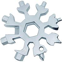 Sunneey Combinaison D'outils Multifonctions, 18-en-1 en acier inoxydable multi-fonction de flocons de neige portables EDC/ouvre-bouteille/tournevis pour le camping de voyage en plein air