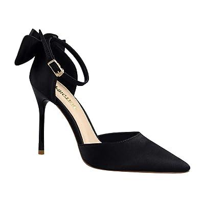 072c7b282165 Huatime Women Shoes Heeled Sandals - Beauty Sweet Bow Stiletto Sandal  Shallow Mouth High Heels Fashion