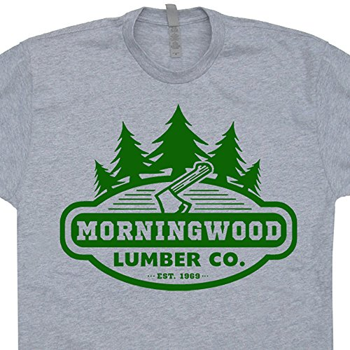 XL - Morningwood Lumber Company T Shirts Funny Carpenter Offensive Rude Morning Wood Lumberjack Novelty (Carpenter Mens T-shirt)