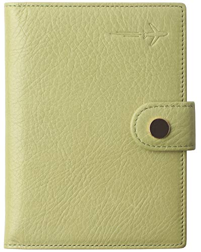 Passport Holder Cover Wallet RFID Blocking Leather Credit Card Case Travel Document Organizer Lemon Green