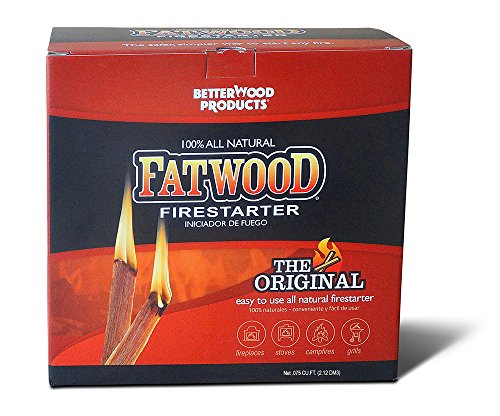 Better Wood Products Fatwood Firestarter Box, 3-Pounds (Woods Box Fatwood)