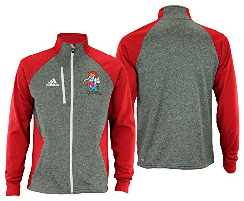 Cornhuskers Men's Vault Fleece Track Jacket, Large, Gray ()