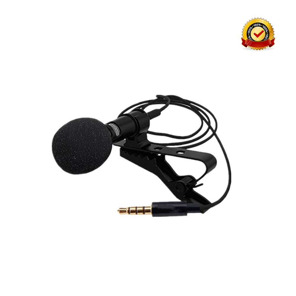 Mini Condenser Microphone Recording Live Lapel Lavalier Universal 3.5mm product image