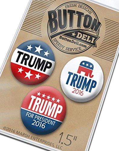 Marsh-Enterprises-3-pack-Donald-Trump-Campaign-15-Buttons-Lapel-Pins-Assorted-2016-Designs-3862