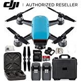 DJI Spark Portable Mini Drone Quadcopter Water Proof Hard Case Essential Bundle (Sky Blue)