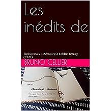 Les inédits de: Forbonnais : Mémoire à l'abbé Terray (1771) (French Edition)