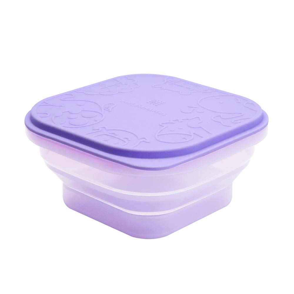 Baby Collapsible Snack Container, Food Grade Silicone, BPA & Phthalate Free, Toddler Collapsible Bowl, 14oz, 6 Month+