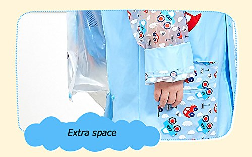 SITENG Girls Boys Kids Children Inflatable Hooded School Backpack Rain Jacket Raincoats Ponchos by SITENG (Image #3)