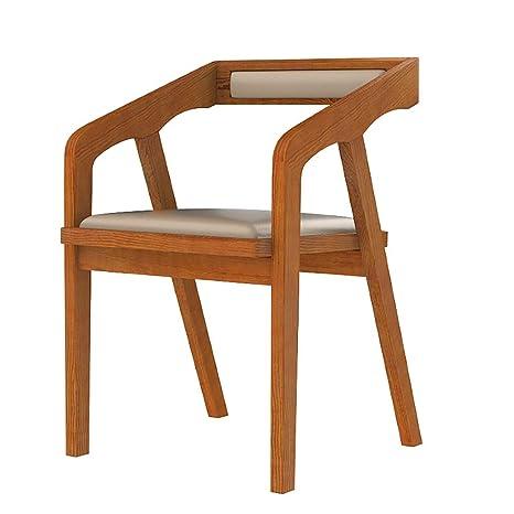 Amazon.com: CRPYT Silla de madera maciza estilo vintage ...