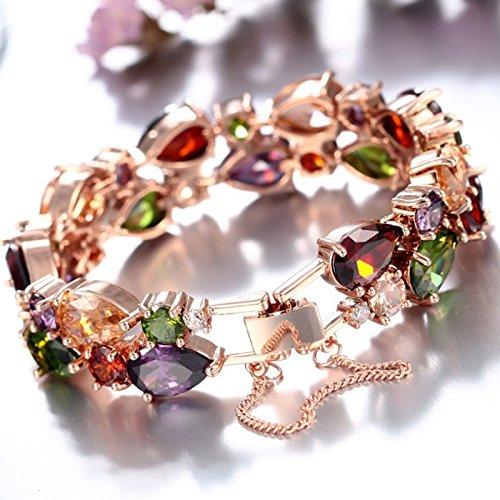 SILYHEART Multicolor Zircon Pendant Necklace Bracelet Earrings ...