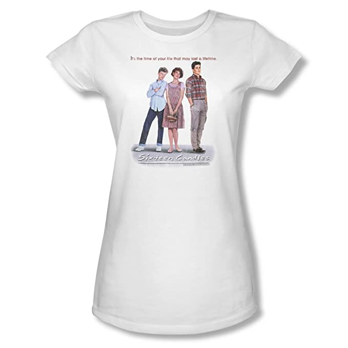 Sixteen Candles - Mujer Camiseta de Futbol En Blanco, Medium, White: Amazon.es: Ropa y accesorios