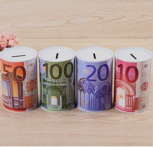 50 Section Piggy Bank Home Euro Cylindre en M/étal Tirelire Prime Tinplate Money Bank Cadeau Enfant