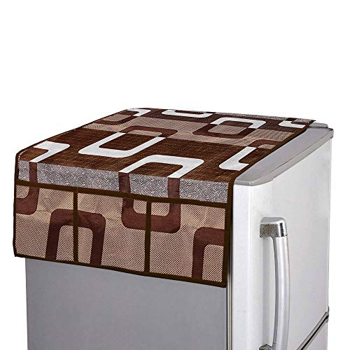 E-Retailer® Combo Set of 1Pc Fridge Top Cover with 6 Pockets, 2Pc Fridge Handle Cover, 1Pc Microwave-Oven Top Cover With 4 Pockets And 1Pc Top Load Washing Machine Cover (Brown, 5 Pc Set) 51 Zk3WwHtL India 2021