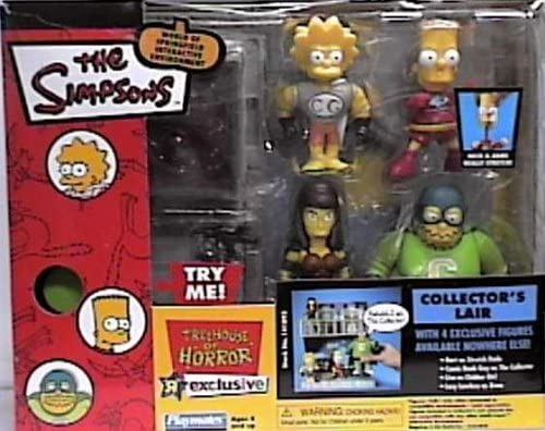 B000BHA8DG The Simpsons World of Springfield Interactive Enviroment Treehouse of Horror Collector's Lair with Exclusive Bart, Comic Book Guy, Lisa, Lucy Lawless Figures 51-ZkDUHoRL