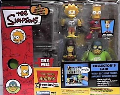 The Simpsons World of Springfield Interactive Enviroment Treehouse of Horror Collector's Lair with Exclusive Bart, Comic Book Guy, Lisa, Lucy Lawless Figures]()