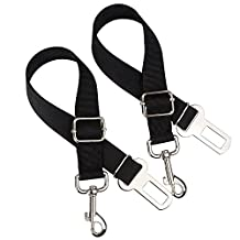 Dog Seat Belt Car Vehicle Safety Leads Seatbelt Leash Harness Nylon Adjustable Strap for Small/Medium/Large Dogs(2-Pack)