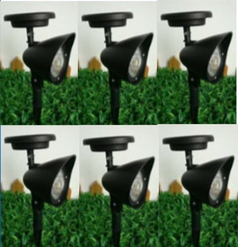 6 New Outdoor Garden 3-led Solar Spot Flood Landscape Light Eco Garden Brand - Tracking International Priority Shipping