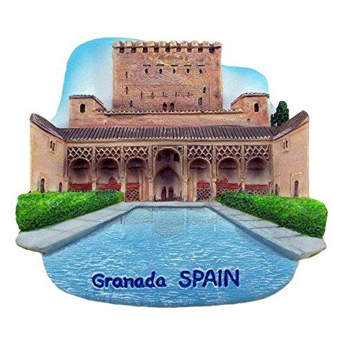 Alhambra Palace Granada Spain Souvenir Fridge Magnet Toy Set 3D Resin Collection ()