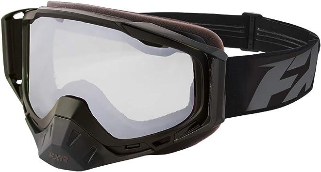 Smoke Lens w//Platinum Finish FXR Core Snow Goggle Black//White