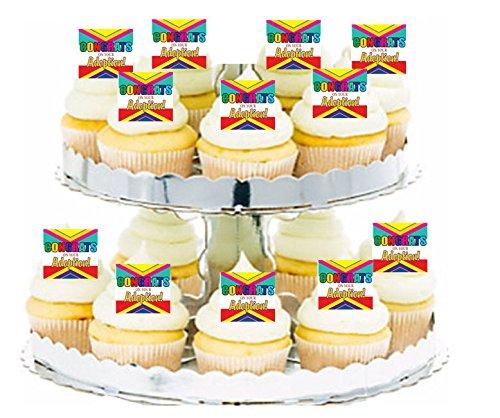 Congrats on Adoption Cupcake / Food / Appetizer Decoration Topper Picks - -