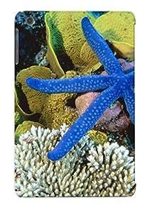 Ellent Ipad Mini/mini 2 Case Tpu Cover Back Skin Protector Blue Linckia Sea Star For Lovers