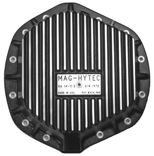 (Mag-Hytec Rear Differential Cover 01-12 Chevy Silverado & GMC Sierra 2500 3500 6.6L Diesel & 8.1L Gas w/ Full floating Axle 14-11.5)