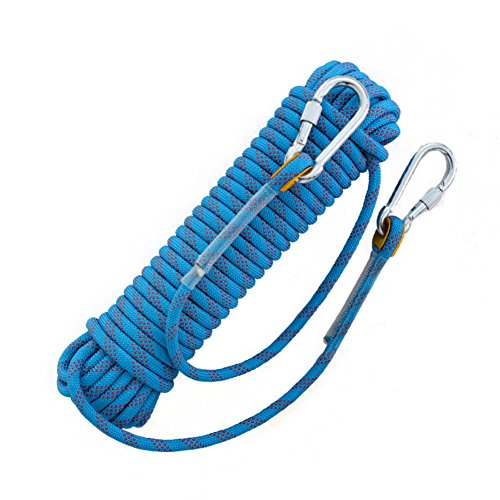 AIFUSI Climbing Rope Outdoor Hiking Accessories High Strength Cord Safety Rope Climbing Rope 10M(32ft) Static Rock Escape Rope Ice Climbing Equipment Fire Rescue Parachute Rope