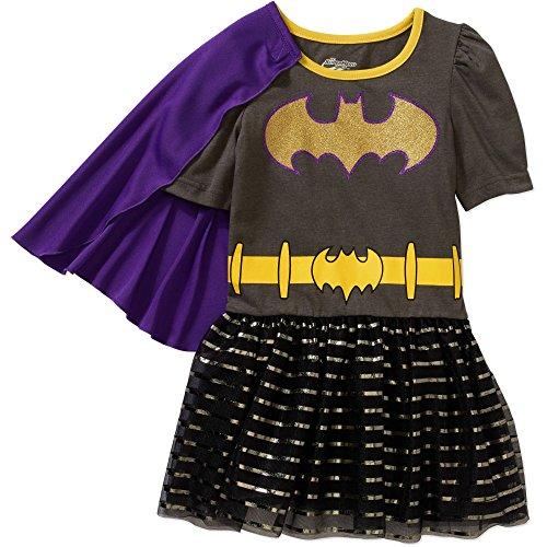 Toddler Girls DC Superhero Girls Batgirl Tutu Dress with Cape Size 3T - Superhero Outfit For Toddler