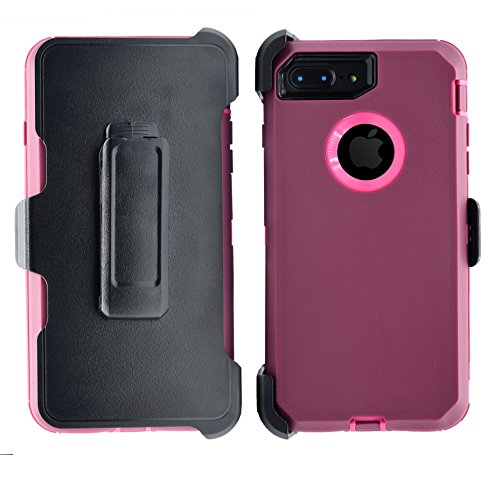 AlphaCell Cover compatible with iPhone 7 Plus / 8 Plus (ONLY) | 2-in-1 Screen Protector & Holster Case | Full Body Military Grade Protection with Carrying Belt Clip | Shock-proof Protective