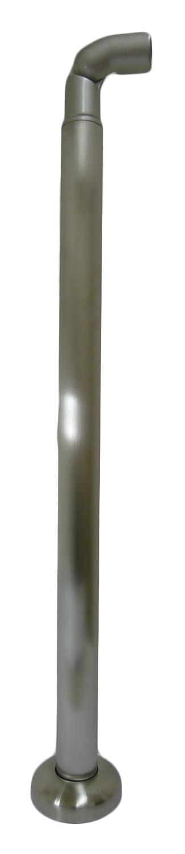 シロクマ 自在エンド支柱(ベースプレート式) ヘアーライン ABR-720B (手すり用パーツ) B009VCOFCW ベースプレート式|ヘアーライン ヘアーライン ベースプレート式