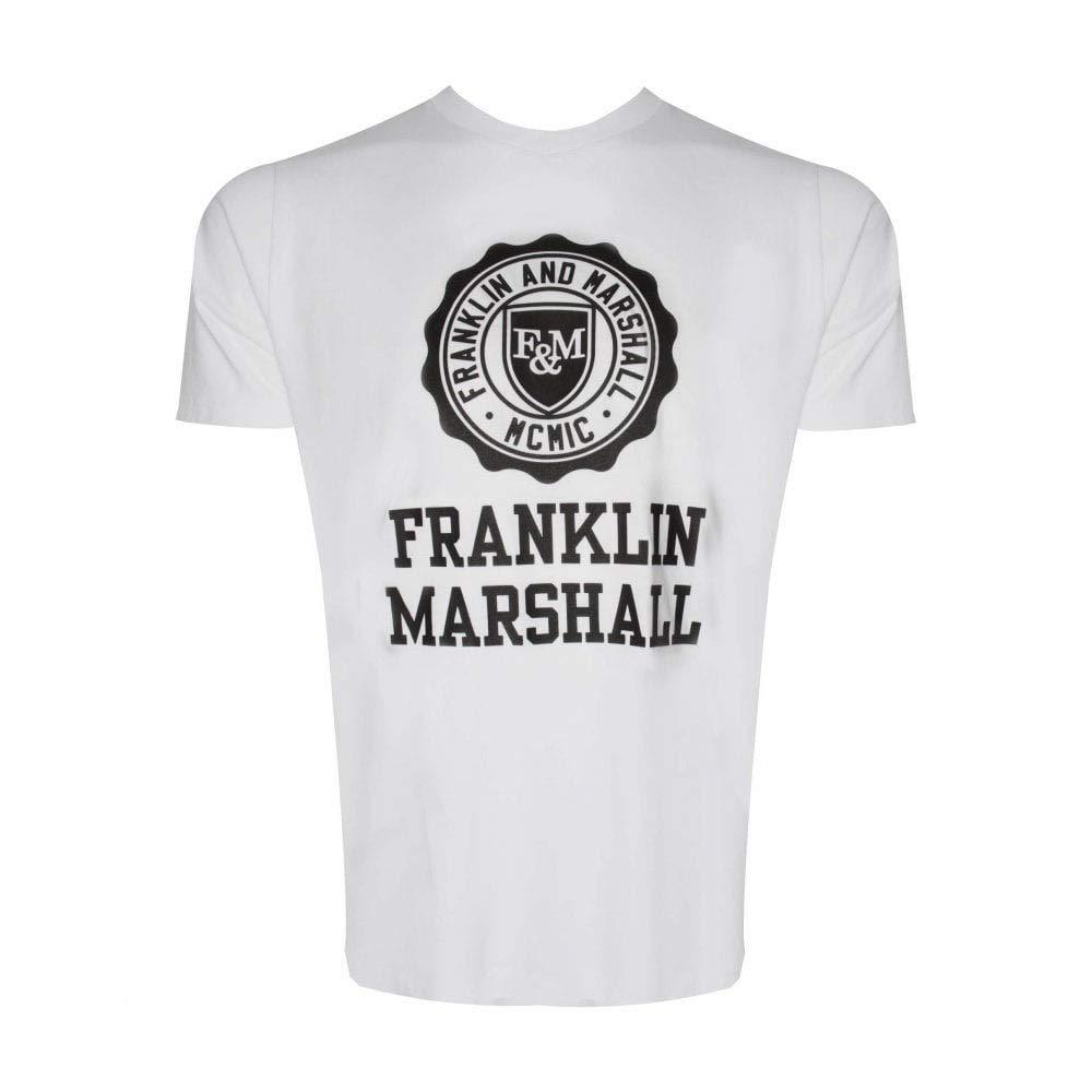 Franklin & Marshall - Camiseta - Manga Corta - para Hombre Blanco ...