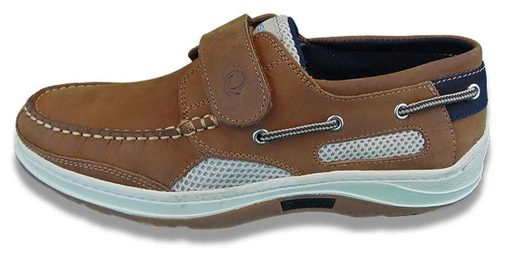 Walnuss Quayside Quayside Herren Erwachsene Hobart Klettverschluss Deck Schuh  einfaches und großzügiges Design