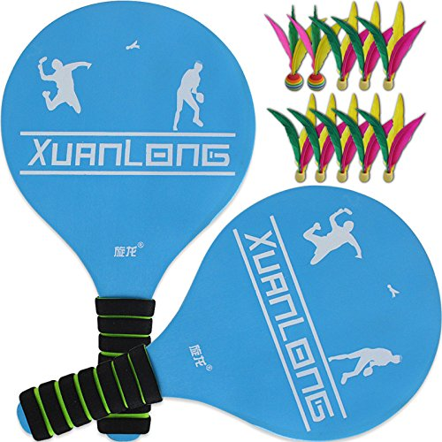 Agirlgle Paddle Ball Racket Game With Carry Bag- Indoor Or Outdoor Beach Tennis, Lawn or Backyard Wooden Racquet Swimming Pool Games Kids and Adults Yard Family Outdoor Camping Badminton Game Toys