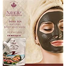 Dead Sea Mask with Argan oil, 100% natural and pure for acne, pore Exfoliates, Nourishes , Anti-Aging, jordan