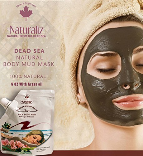 Dead Sea Mask with Argan oil, 100% natural and pure for acne