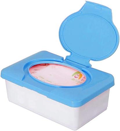 LASISZ Toalla de Papel Servilletero Soporte para bebé Estuche de Viaje portátil para niños Toallitas húmedas Caja de pañuelos de plástico, Azul: Amazon.es: Hogar