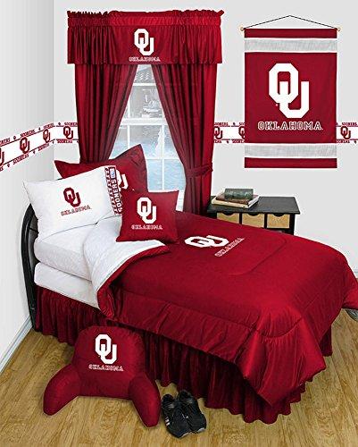 University of Oklahoma Sooners Dorm Bedding Comforter Set (Full) (Comforter Sooners Full Oklahoma)