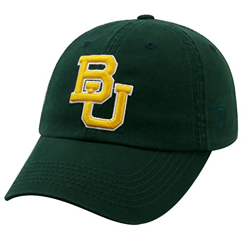 - Top of the World NCAA-Cotton Crew-City-Adjustable Strapback-Hat Cap-Baylor Bears-Green