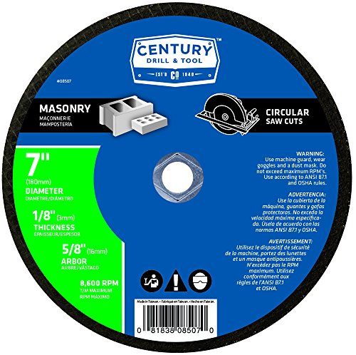 Century Drill and Tool 8507 Masonry Abrasive Blade, 7-Inch