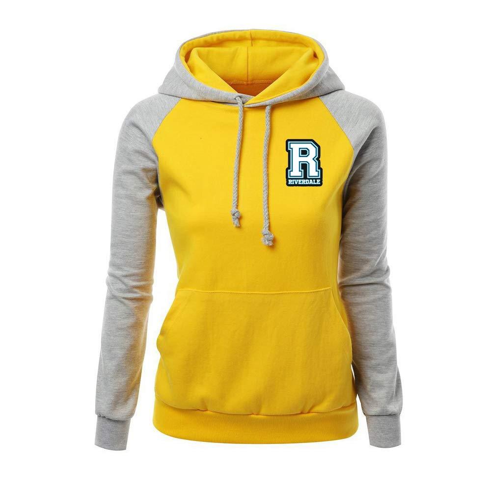 Riverdale Sweat-Shirts /à Capuche Sport Femme Pullover Manche Longue D/écontract/ée Sweats Slim Fit Sweater Populaire Pull Tendance