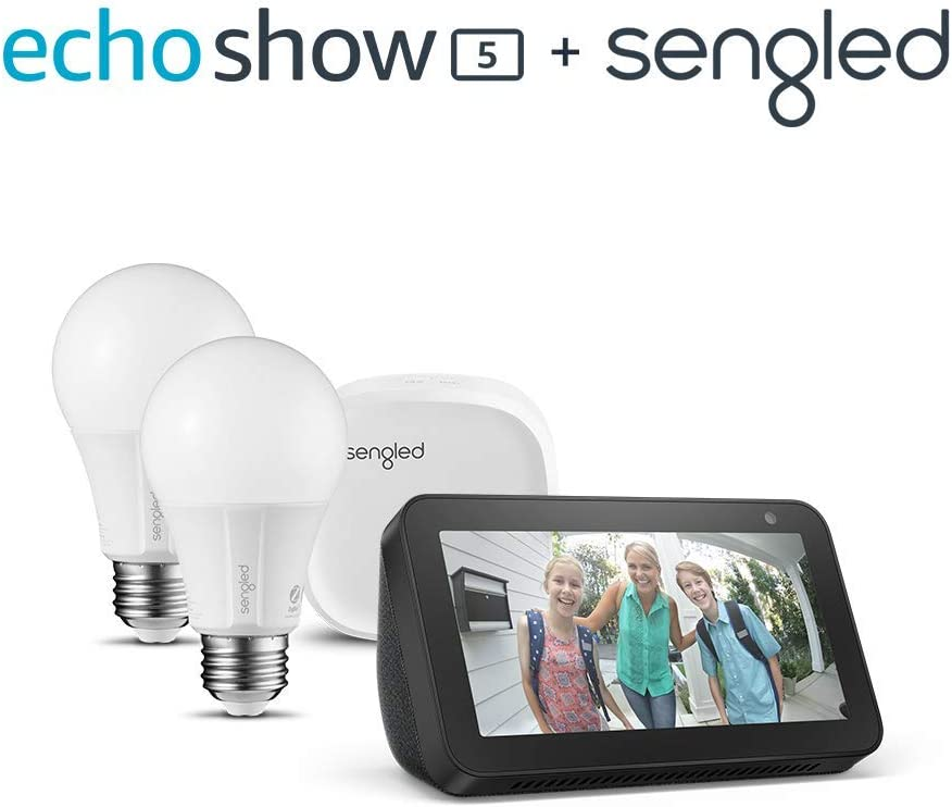 Echo Show 5 Charcoal with Sengled 2 pack starter kit