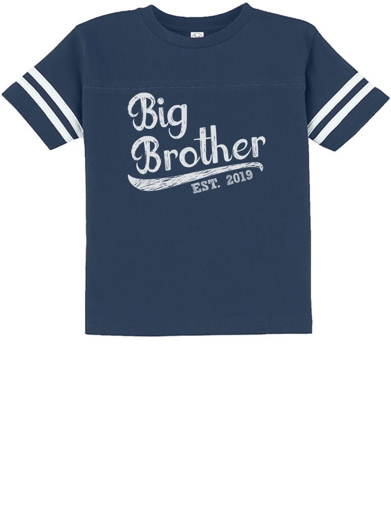 Tstars - Gift for Big Brother 2019 Siblings Gift Toddler Jersey T-Shirt 2T Blue