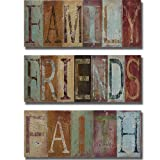 Family, Friends, and Faith by Patricia Pinto 3-pc Premium Stretched Canvas Set (Ready-to-Hang)