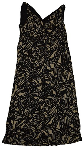 Gap Sundress (GAP Maternity Black Beige Print V-Neck Woven Maxi Sun Dress Size 8)