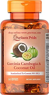 Puritan's Pride Garcinia Cambogia 500 mg plus Coconut Oil 500mg-60 Softgels